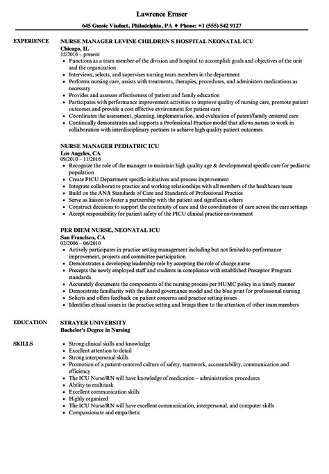 Resume Icu Objective by Icu Resume Talktomartyb