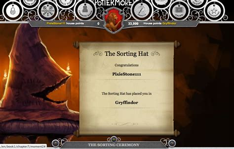 Hogwarts House Quiz Pottermore by Pottermore Sorting Hat Gryffindor Answers