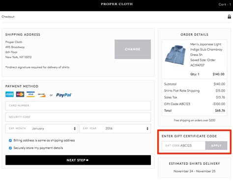 Gift Cards Expire - gift certificates frequently asked questions proper cloth reference