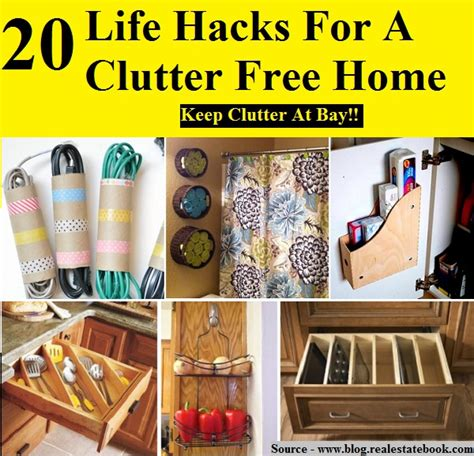 life hacks for home 20 life hacks for a clutter free home home and life tips