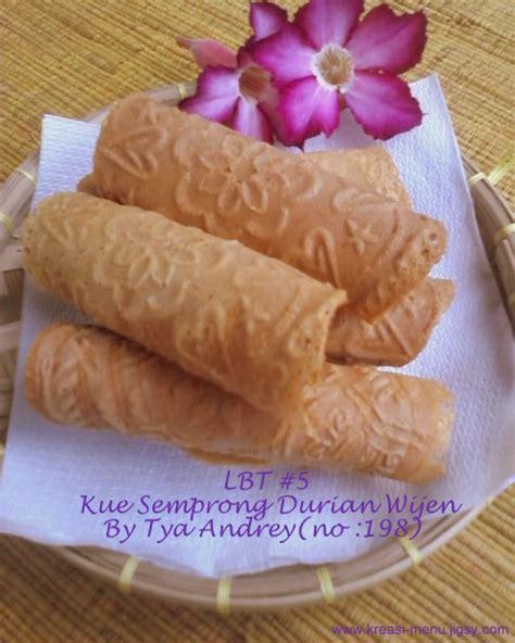 Semprong Wijen 1 rumah kue lbt 5 kue semprong durian wijen