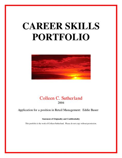 photos of portfolio title page template career portfolio