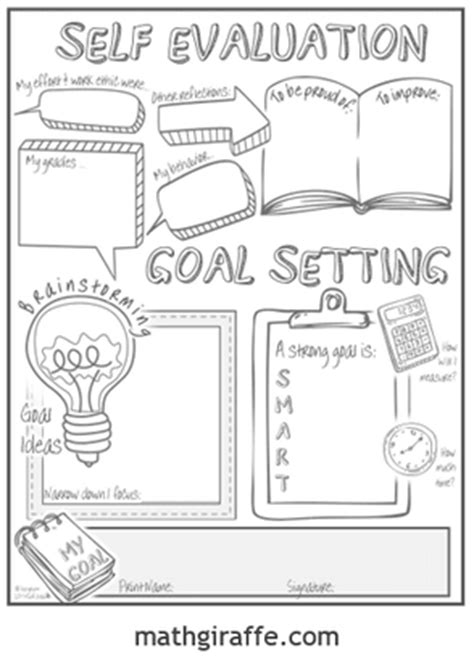 student goal setting sheet for middle school tpt free