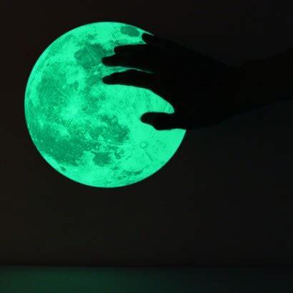 glow in the moon wall sticker clair de lune glow in the medium moon wall sticker pack