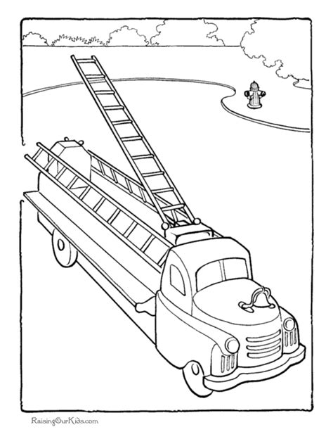 ladder truck coloring page fire truck coloring pages to print az coloring pages