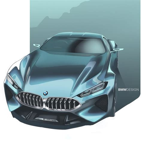 8 Series Sketches by Bmw 8 Series Concept Official Sketch Car Sketches