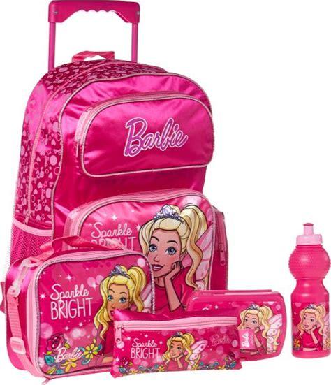 Barbies Bag buy school trolley bag for set of 5 pink