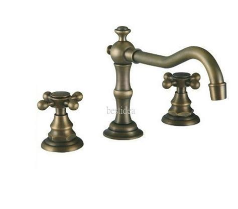 antique brass bathroom faucets widespread two handle widespread bathroom vanity sink lavatory faucet
