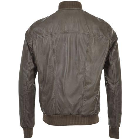 Leather Bomber Jacket mens leather bomber jacket taupe danny