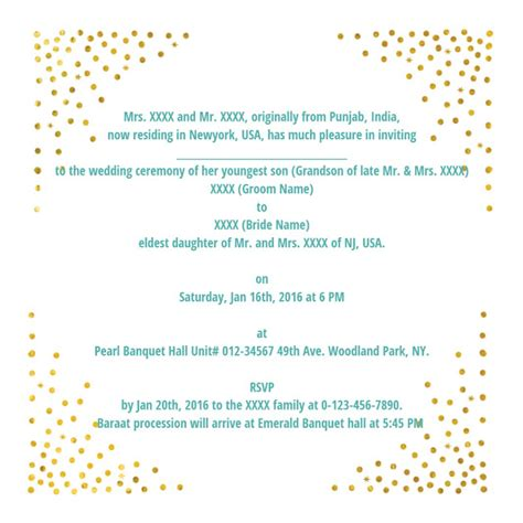 wedding invitation cards and wordings wedding wording sles and ideas for indian wedding