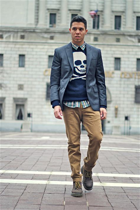 what to wear with dr martens brown men men s navy sweaters dark brown dr martens boots navy