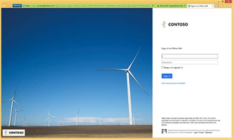 Office 365 Portal Customization Customize Your Sign In Page In The Azure Active Directory