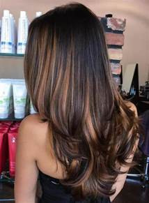 highlights for black hair and layered for 50 90 balayage hair color ideas with blonde brown and caramel highlights
