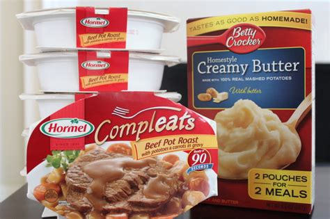 Hormel Compleats Shelf by Pantry Meal Pot Roast Food Storage Cookbook