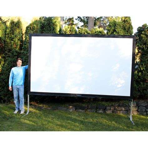 backyard projector screen visual apex projectoscreen144hd portable movie theater