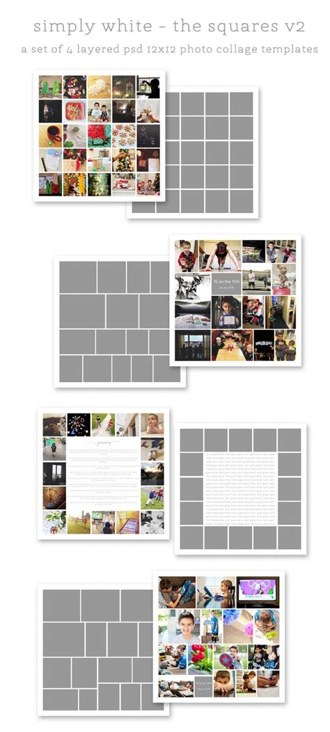 best 25 photo collage template ideas on pinterest