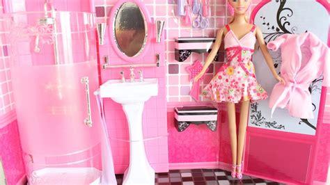 barbie doll bathroom barbie doll bathroom unboxing youtube
