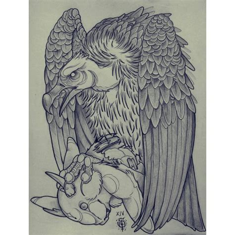 simple vulture tattoo vulture and the jackalope by xxhideously tak on deviantart