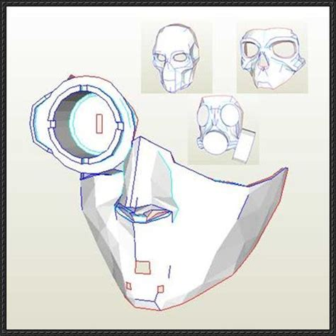Gas Mask Papercraft - 25 best ideas about skeleton mask on skull