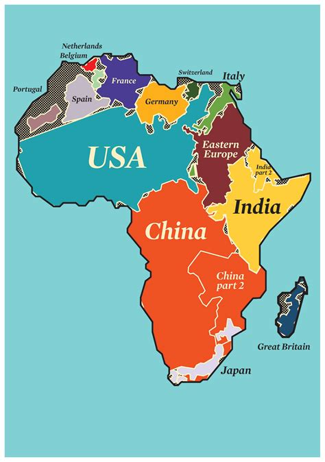 size of africa map real size of africa compared to other countries south