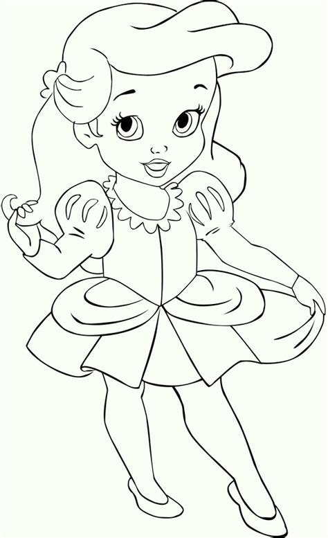 coloring page baby ariel kids ariel the little mermaid coloring pages