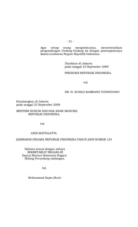 Undang Undang Ri No 32 Tahun 2009 Peraturan Menteri Lingkungan undang undang no 22 tahun 2009 tentang ketenagalistrikan
