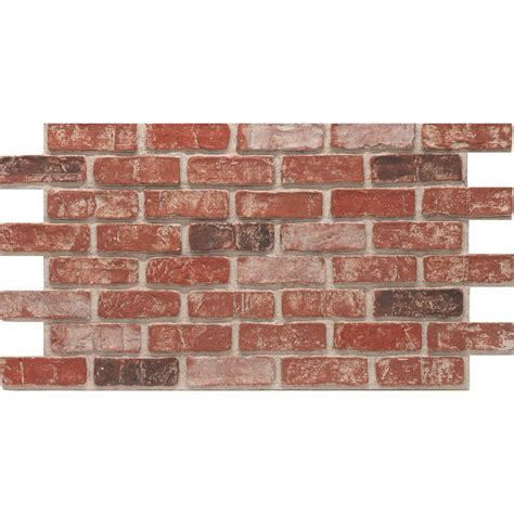 interior brick veneer home depot urestone town 24 in x 46 3 8 in faux used brick