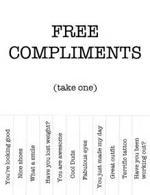 give compliments