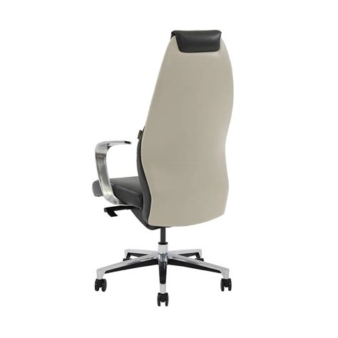 desk chair white leather prector black white leather desk chair el dorado furniture