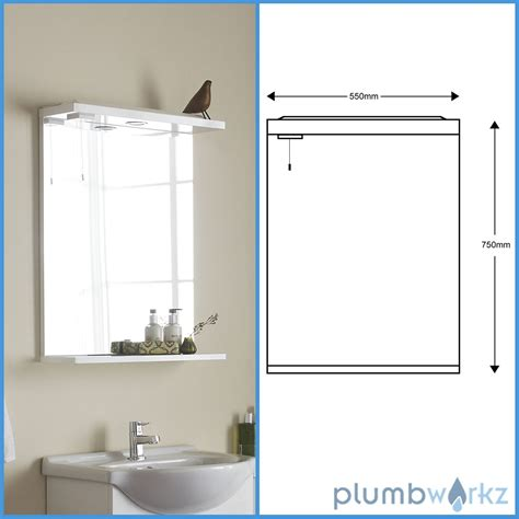 bathroom mirror unit vanity unit basin mirror down lights gloss white modern