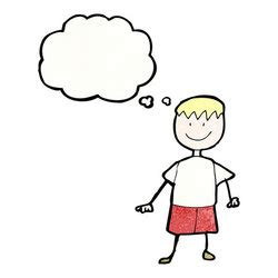 coloring page of boy thinking boy with a think bubble colouring pages clipart best