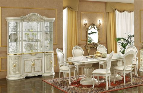ivory finish traditional dining room w optional items