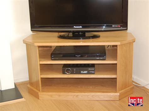 Handmade Tv Unit - made to measure american oak corner open television unit