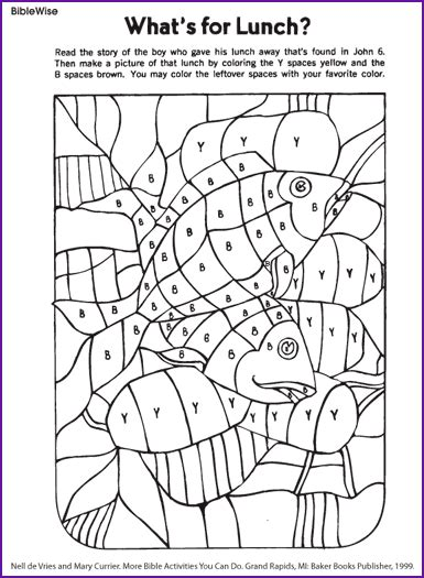 printable coloring pages jesus feeds 5000 fill in picture of loaves and fishes korner