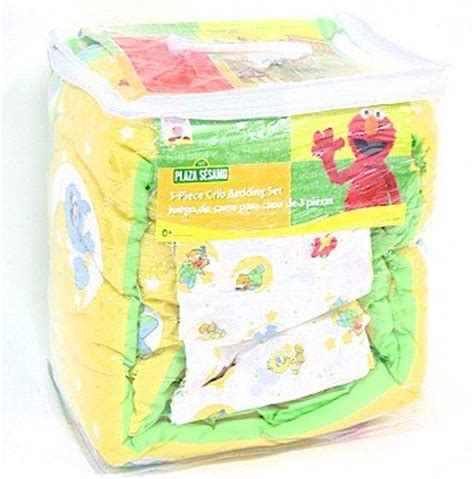 Sesame Crib Set by Sesame Babyking Elmo Friends Three 3 Pc Crib
