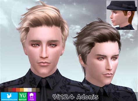 sims 4 guy hair cc newsea yu124 adinius hair sims 4 hairs http