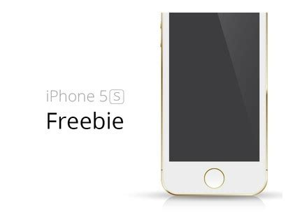 free gold iphone 5s template vector titanui
