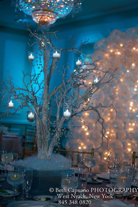 winter themed centerpiece ideas winter bat mitzvah wedding sweet 16 mazelmoments