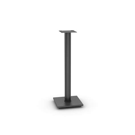 adjustable bookshelf speaker stand in black