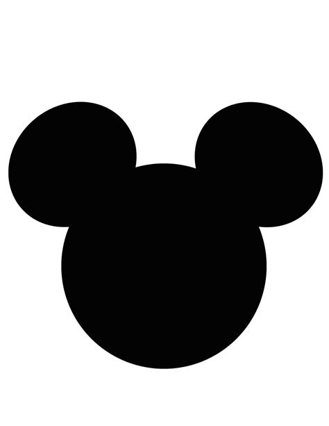 mickey mouse silhouette small clipart clipground