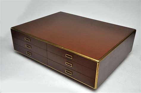 large 2 sided 12 drawer italian coffee table at 1stdibs
