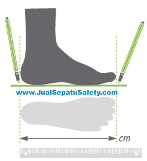 Sepatu Safety Safetoe cara menghitung ukuran sepatu sesuai size chart dari