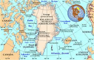 political map of greenland greenland political map