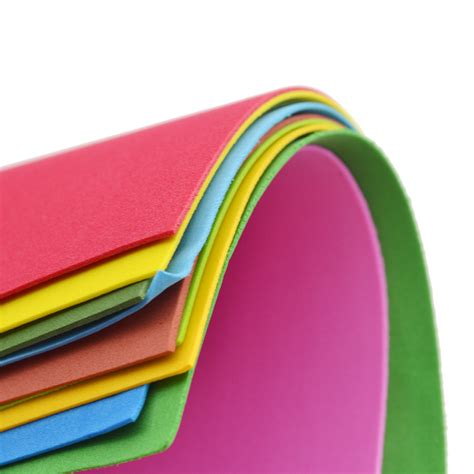 Sponge Paper Craft - 10 sheets thick multicolor a4 sponge foam paper
