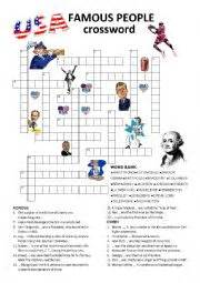 usa today crossword help english worksheets usa famous people crossword