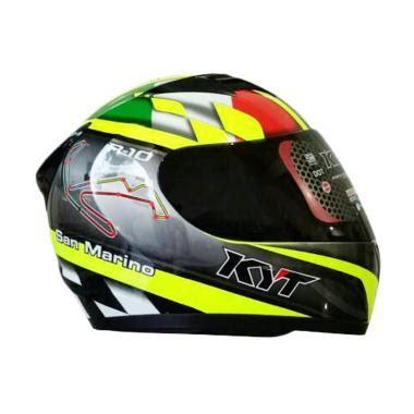 Helm Kyt R10 Black jual helm kyt san marino harga promo diskon blibli