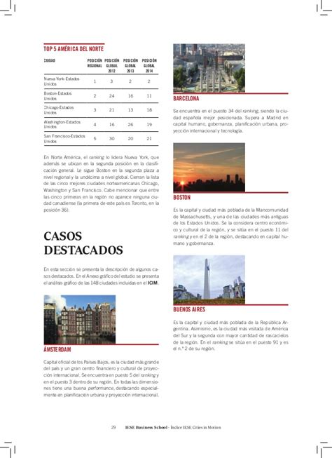 Iese Mba Ranking 2015 by 205 Ndice Iese Cities In Motion Icim 2015