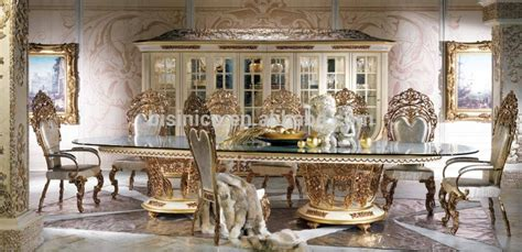 7 Piece Dining Room Table Sets by New Arrival Royal Oval 4 Meters Dining Table Antique Gold