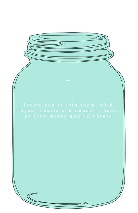 Mason Jar Template For Wedding Invitations Jar Invitation Template