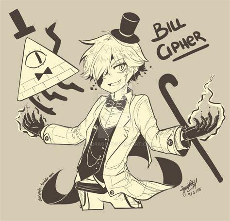 bill cipher anime bill cipher human version by sandragh on deviantart